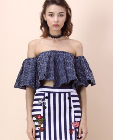 96983b434118d I can not get enough of this summer s hottest trend! The off the shoulder  trend has been worn so much this summer