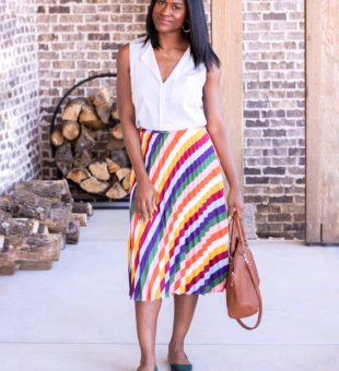 10 Striped Pleated Skirts You Should be Wearing Right Now!