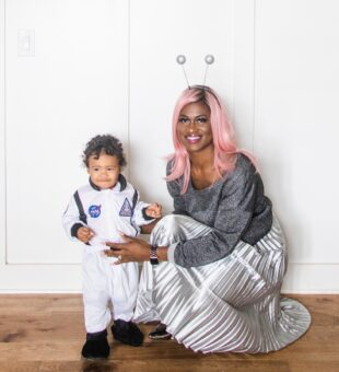 Mommy Martian and Little Astronaut Costume